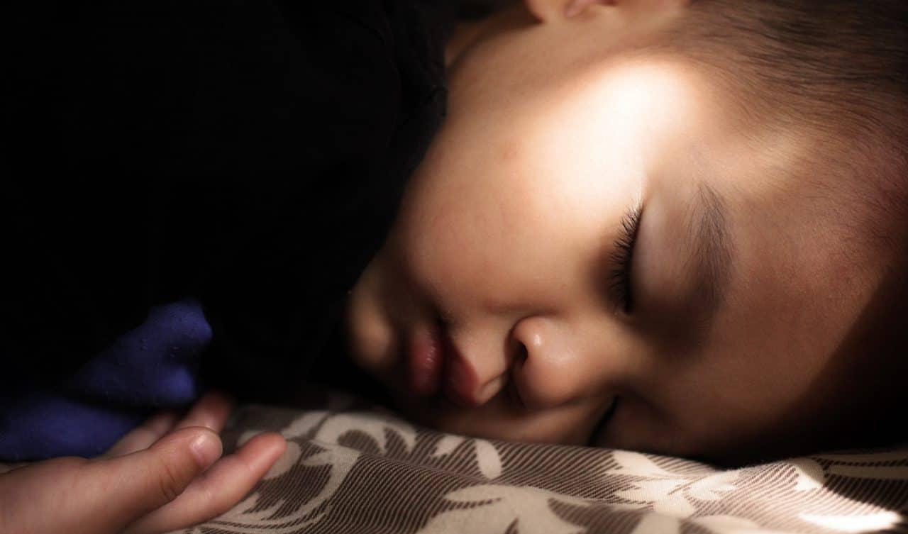 Close-up of child sleeping