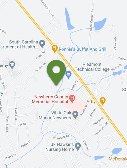 map image to carolina pines location